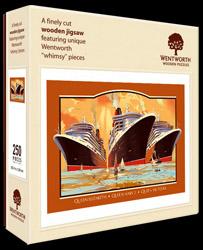 Cunard Queen Mary 2 Queen Victoria Queen Elizabeth jigsaw puzzle