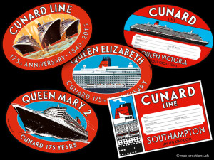 Cunard Baggage Labels