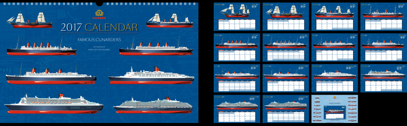 Cunard 2017 Calendar