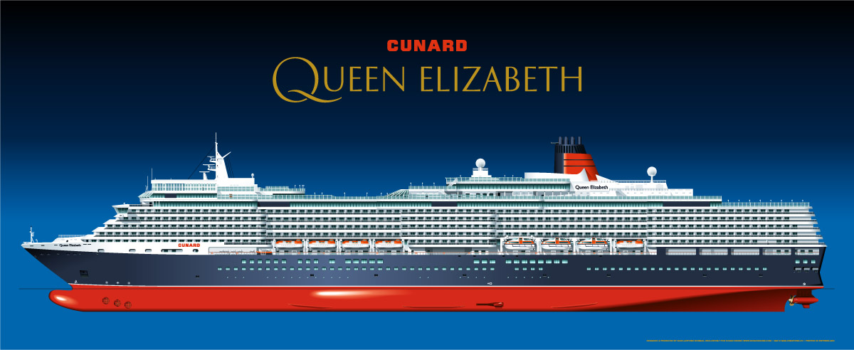 Cunard Queen Elizabeth official poster