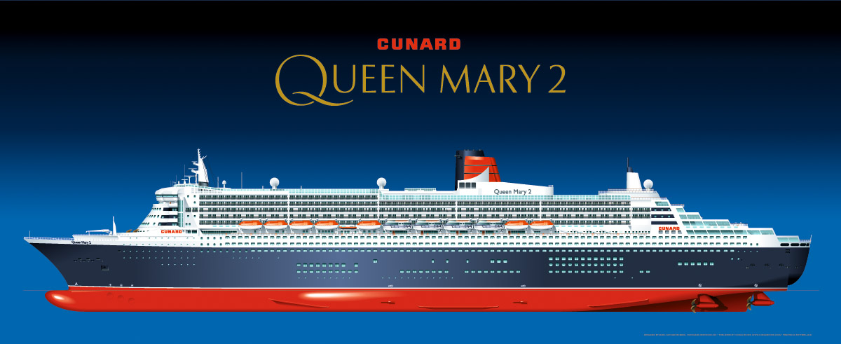 Cunard Queen Mary 2 official poster