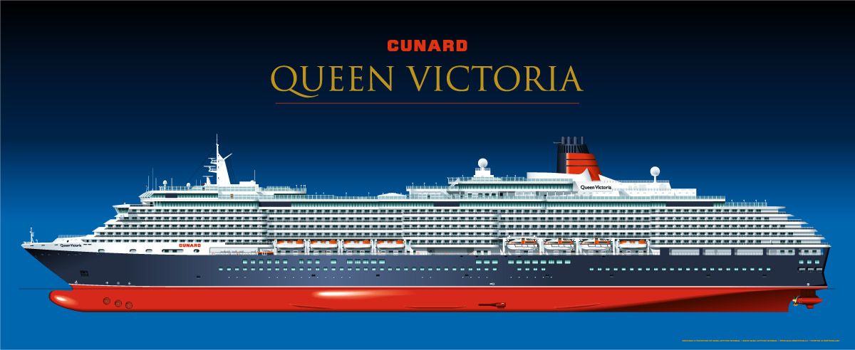 Cunard Queen Victoria official poster