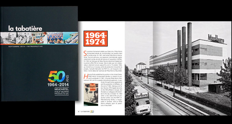 philip morris graphisme illustration mise en page design layout publishing neuchâtel