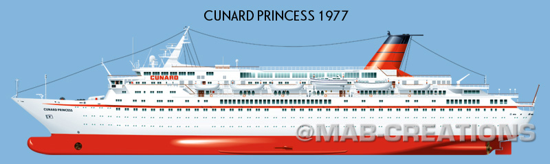 cunard princess countess profile drawing illustration