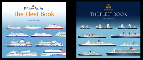 Cunard Brittany Ferries Fleet Book Miles Cowsill Marc-Antoine Bombail