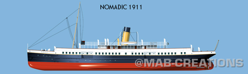 ship vector drawing profile white star line illustration artwork marine art