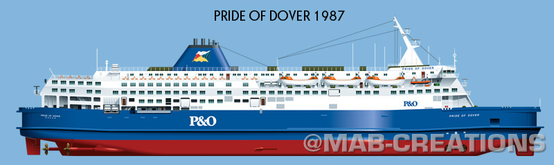 PandO pride of dover profile drawing