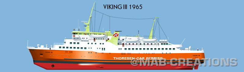 viking car ferry thoresen drawing