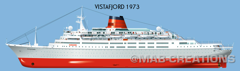 cunard vistafjord caronia profile drawing